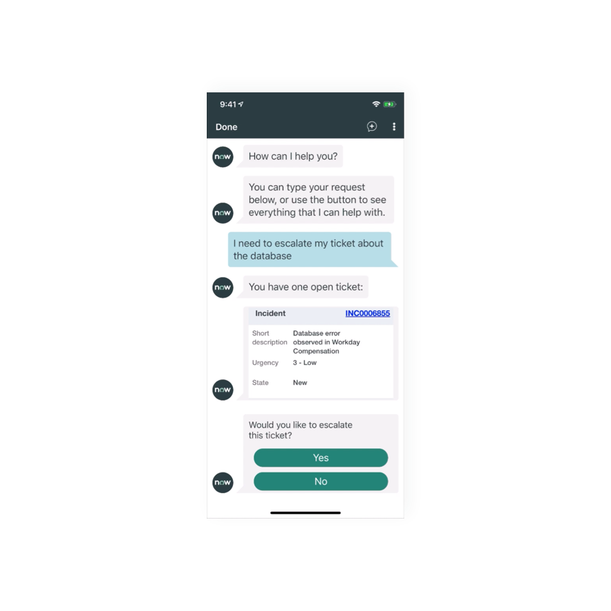 Personal chatbot interaction for the user